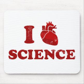 amo ciencia/la anatomía del corazón de la ciencia/ alfombrillas de ratón