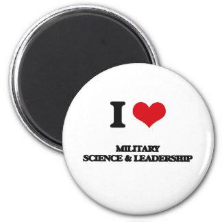 Amo ciencia militar y la dirección imán redondo 5 cm