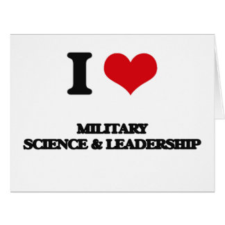 Amo ciencia militar y la dirección tarjeta de felicitación grande