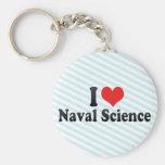 Amo ciencia naval llavero