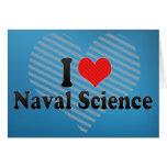 Amo ciencia naval tarjetón