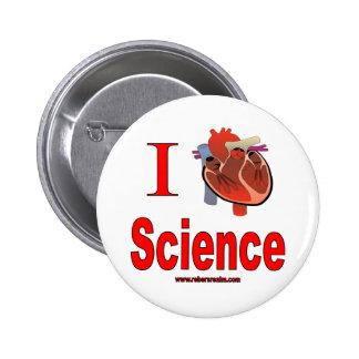 Amo ciencia pin redondo 5 cm