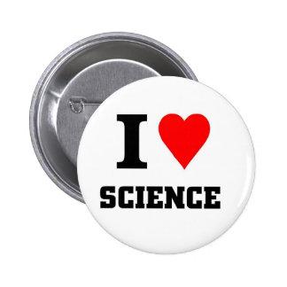 Amo ciencia pin redondo de 2 pulgadas