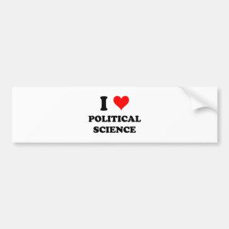 Amo ciencia política pegatina de parachoque