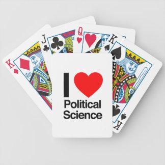 amo ciencia política barajas de cartas