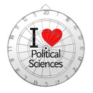 Amo ciencia política tablero dardos