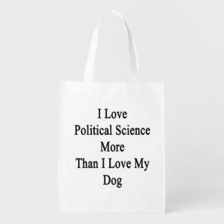 Amo ciencia política más que amor de I mi perro Bolsas Para La Compra