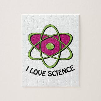 Amo ciencia rompecabeza