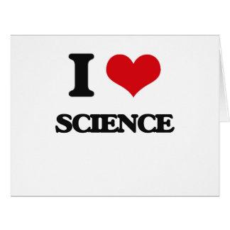 Amo ciencia tarjeta de felicitación grande
