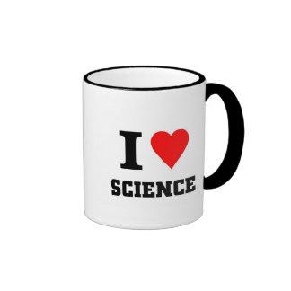 Amo ciencia taza de dos colores