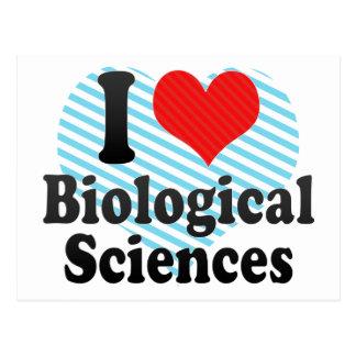 Amo ciencias biológicas tarjetas postales