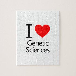 Amo ciencias genéticas puzzles con fotos