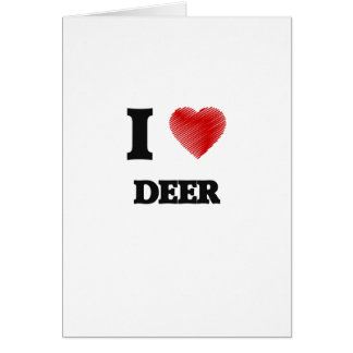 Amo ciervos tarjeta de felicitación