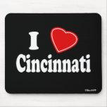 Amo Cincinnati Alfombrillas De Ratón