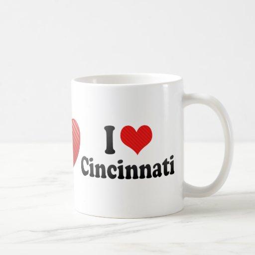 Amo Cincinnati Taza Básica Blanca
