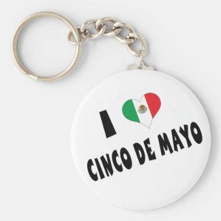 Amo Cinco de Mayo Llaveros Personalizados