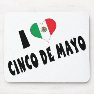 Amo Cinco de Mayo Tapetes De Ratón