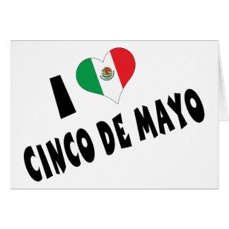 Amo Cinco de Mayo Felicitación