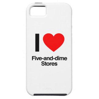amo cinco y tiendas de moneda de diez centavos iPhone 5 carcasa