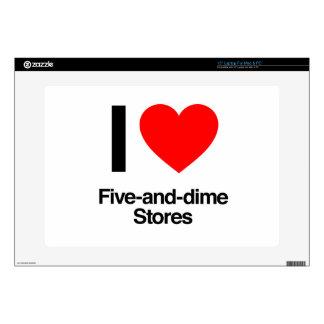 amo cinco y tiendas de moneda de diez centavos calcomanías para 38,1cm portátiles