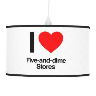 amo cinco y tiendas de moneda de diez centavos lámpara de techo