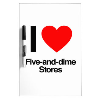 amo cinco y tiendas de moneda de diez centavos pizarra blanca