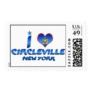 Amo Circleville, Nueva York Sello Postal