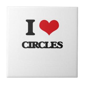 Amo círculos azulejos