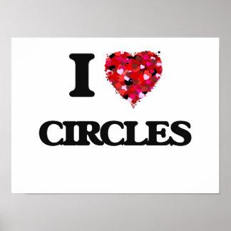 Amo círculos póster