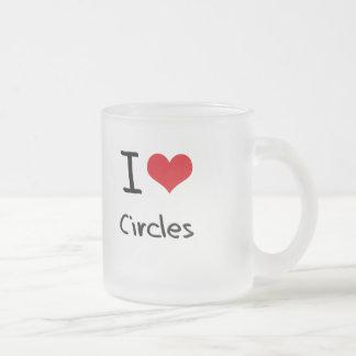 Amo círculos taza de café esmerilada