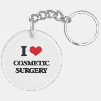 Amo cirugía cosmética llavero