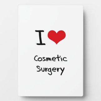 Amo cirugía cosmética placas con foto