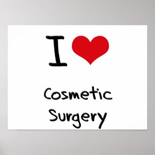 Amo cirugía cosmética póster