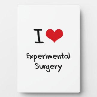 Amo cirugía experimental placas