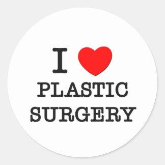 Amo cirugía plástica etiquetas redondas