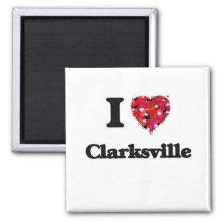 Amo Clarksville Tennessee Imán Cuadrado