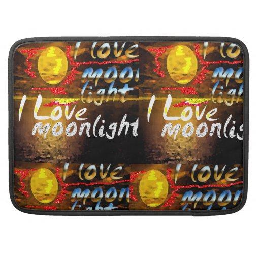 Amo claro de luna funda macbook pro