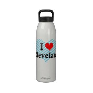 Amo Cleveland, Estados Unidos Botella De Agua Reutilizable