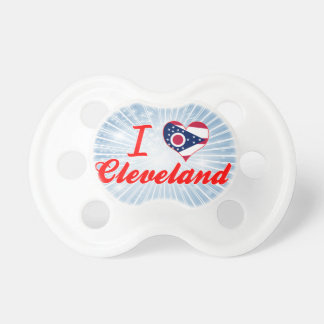 Amo Cleveland, Ohio Chupete De Bebe
