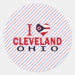 Amo Cleveland, Ohio Pegatina Redonda