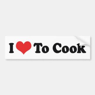 Amo cocinar a la pegatina para el parachoques pegatina para auto