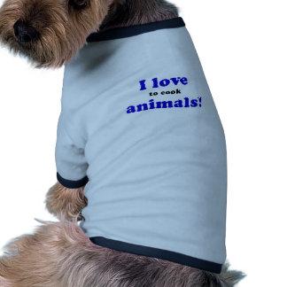 Amo cocinar animales ropa perro