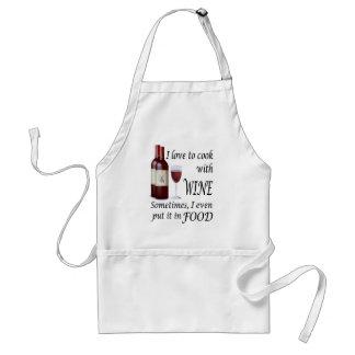 Amo cocinar con el vino - incluso en comida delantal