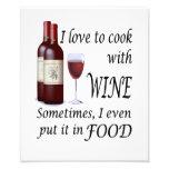 Amo cocinar con el vino - incluso en comida fotografías