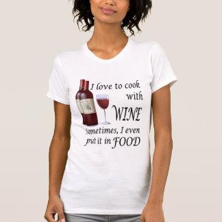 Amo cocinar con el vino - incluso en comida playera