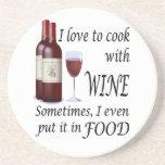 Amo cocinar con el vino - incluso en comida posavasos manualidades
