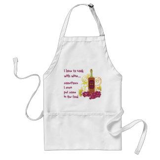 Amo cocinar con el vino y las uvas del vino… delantales
