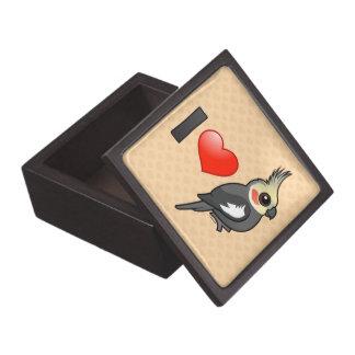 Amo Cockatiels Caja De Recuerdo De Calidad