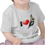 Amo Cockatiels Camisetas
