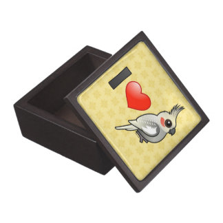 Amo Cockatiels Spangled Cajas De Regalo De Calidad